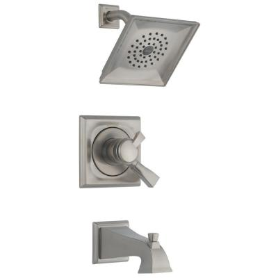 Dryden Single-Handle 1-Spray Tub and Shower Faucet in Stainless (Valve Included)