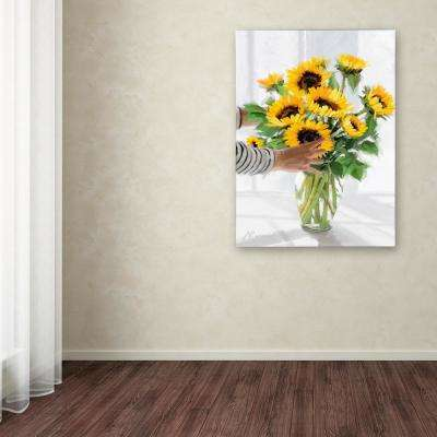 """47 in. x 35 in. """"Sunflowers"""" by The Macneil Studio Printed Canvas Wall Art"""