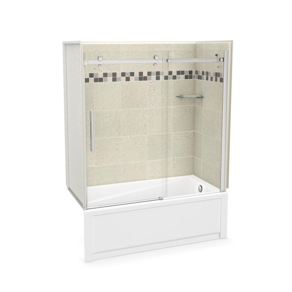 MAAX Utile Stone 30 in. x 59.8 in. x 81.4 in. Right Drain Alcove ...
