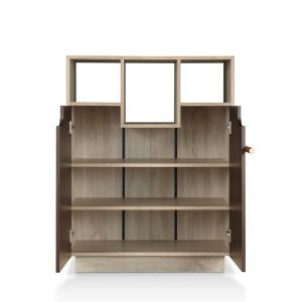Soper Natural Oak Storage Cabinet With Double Doors Fgi 18600c12