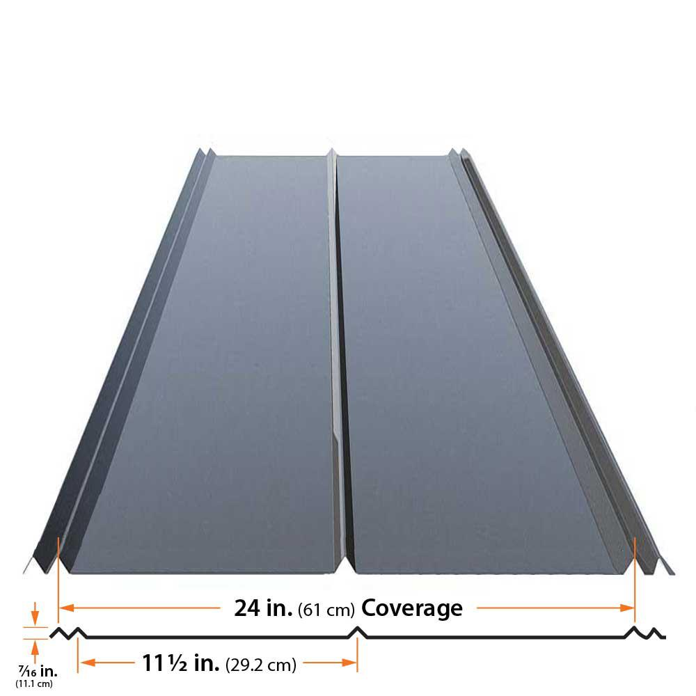 Gibraltar Building Products 12 Ft 5v Crimp Galvanized Steel 29 Gauge Roof Panel 13343 The Home Depot