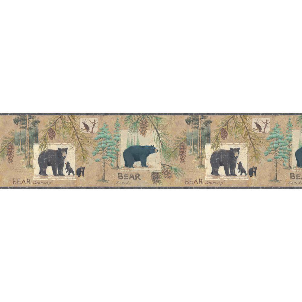 Lake Forest Lodge Bear Wallpaper Border