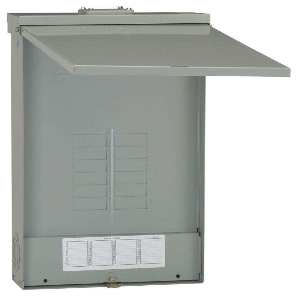 PowerMark Gold 125 Amp 12-Space 12-Circuit 3-Phase Outdoor Main Lug Circuit Breaker Panel