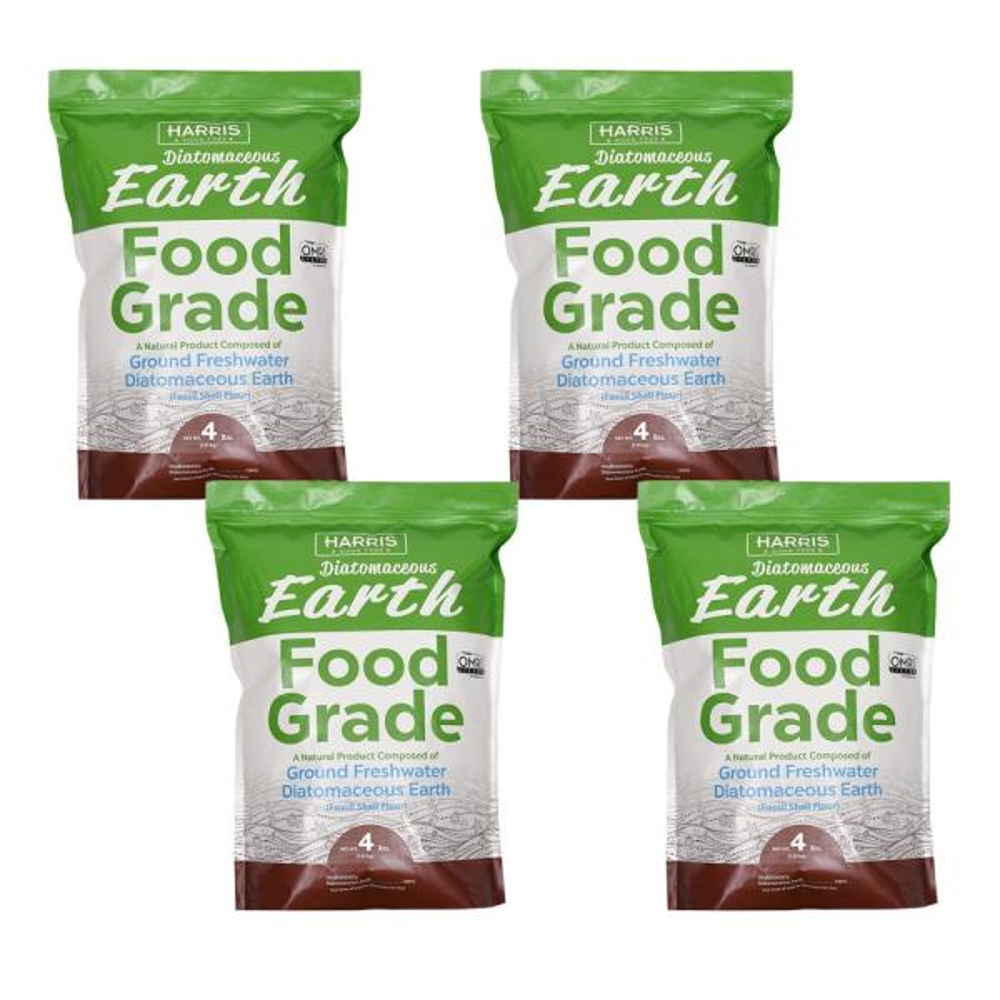 Harris 4 Lbs Diatomaceous Earth Food Grade 100 4 Pack 4defg4 The Home Depot