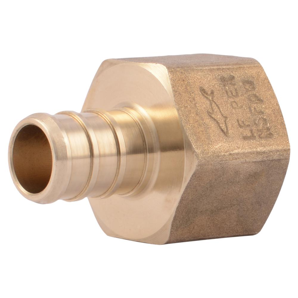 1/2 in. Brass PEX Barb x Female Threaded Adapter (5-Pack)