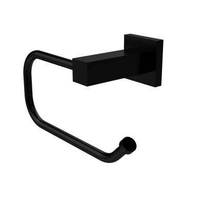 Montero Collection Euro Style Single Post Toilet Paper Holder in Matte Black