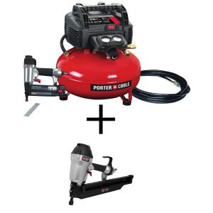 Porter-Cable 6 gal. 150 PSI Portable Electric Air Compressor and 18-Gauge Brad Nailer Combo Kit (1-Tool) with Bonus... by Porter-Cable