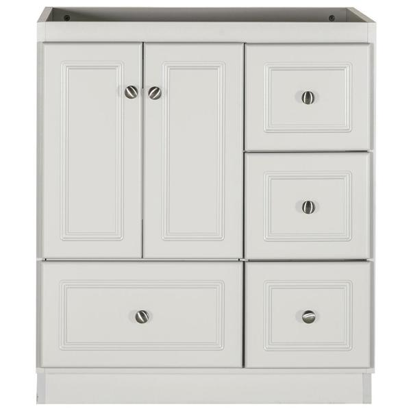 Ultraline 30 in. W x 21 in. D x 34.5 in. H Bath Vanity Cabinet Only with Right Drawers in Dewy Morning
