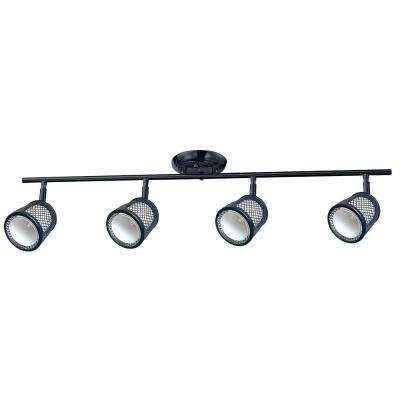 Baltimore 32.3 in. 3-Lights Black and Pewter Track Lighting Kit