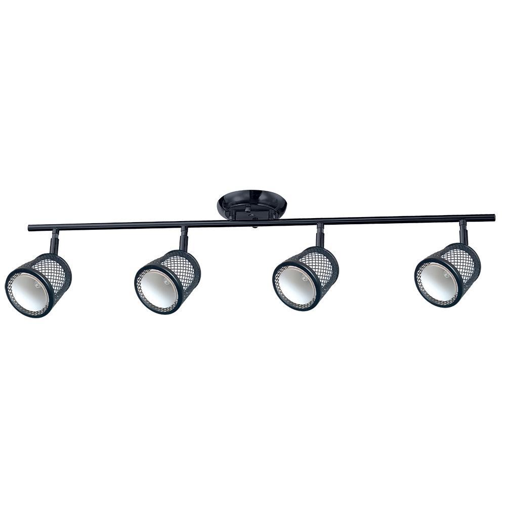3-Lights Black and Pewter Track Lighting Kit  sc 1 st  The Home Depot & Black - Canopy - Track Lighting - Lighting - The Home Depot azcodes.com