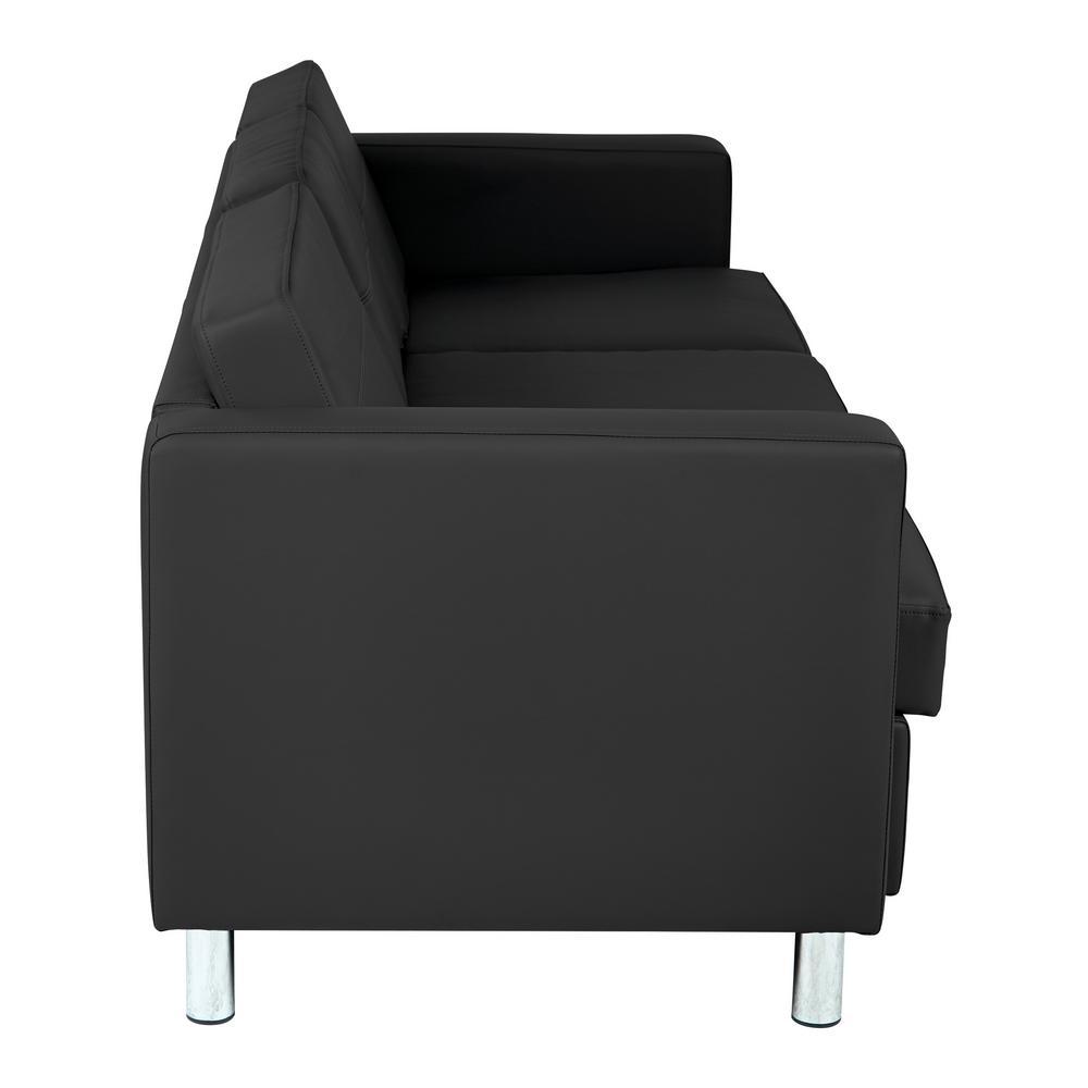 Pacific Dillon Black Vinyl Sofa Couch