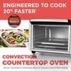 BLACK+DECKER 1500 W 6-Slice Black and Silver Convection Toaster Oven