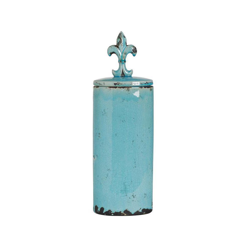 Seraphina Turquoise Ceramic Lidded Jar
