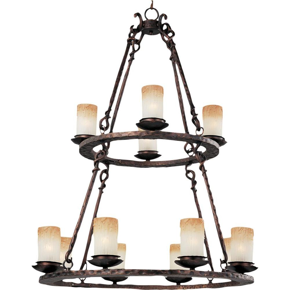 Maxim Lighting Notre Dame 12-Light Oil-Rubbed Bronze Chandelier