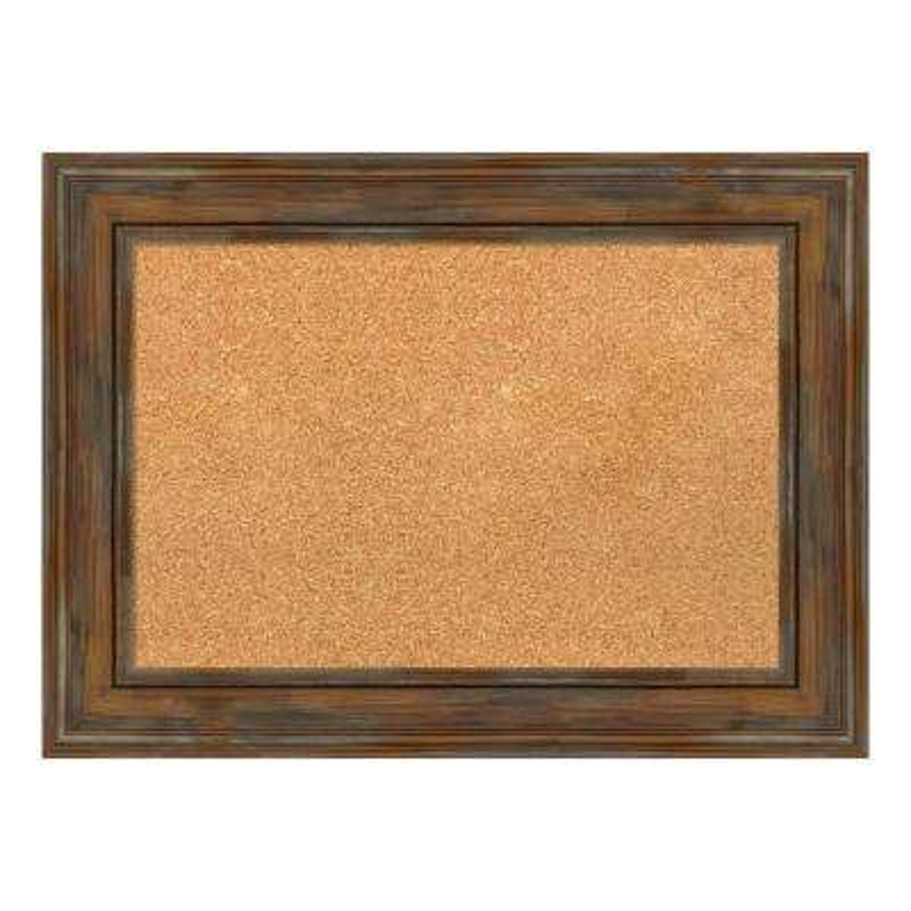 Alexandria Rustic Brown Framed Cork Memo Board