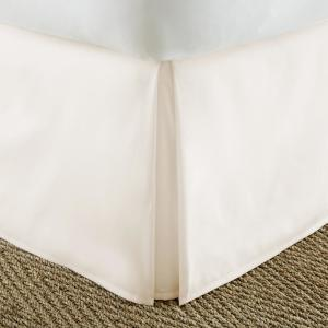 Pleated Dust Ruffle Ivory King Performance Bed Skirt