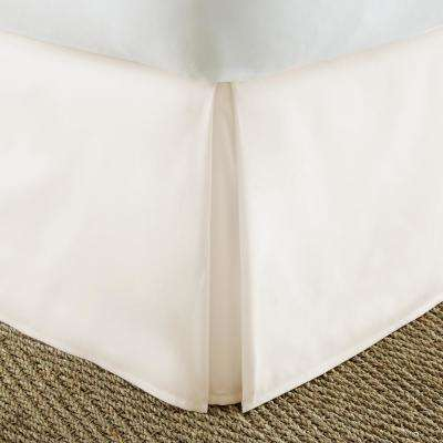 Pleated Dust Ruffle Ivory Queen Performance Bed Skirt