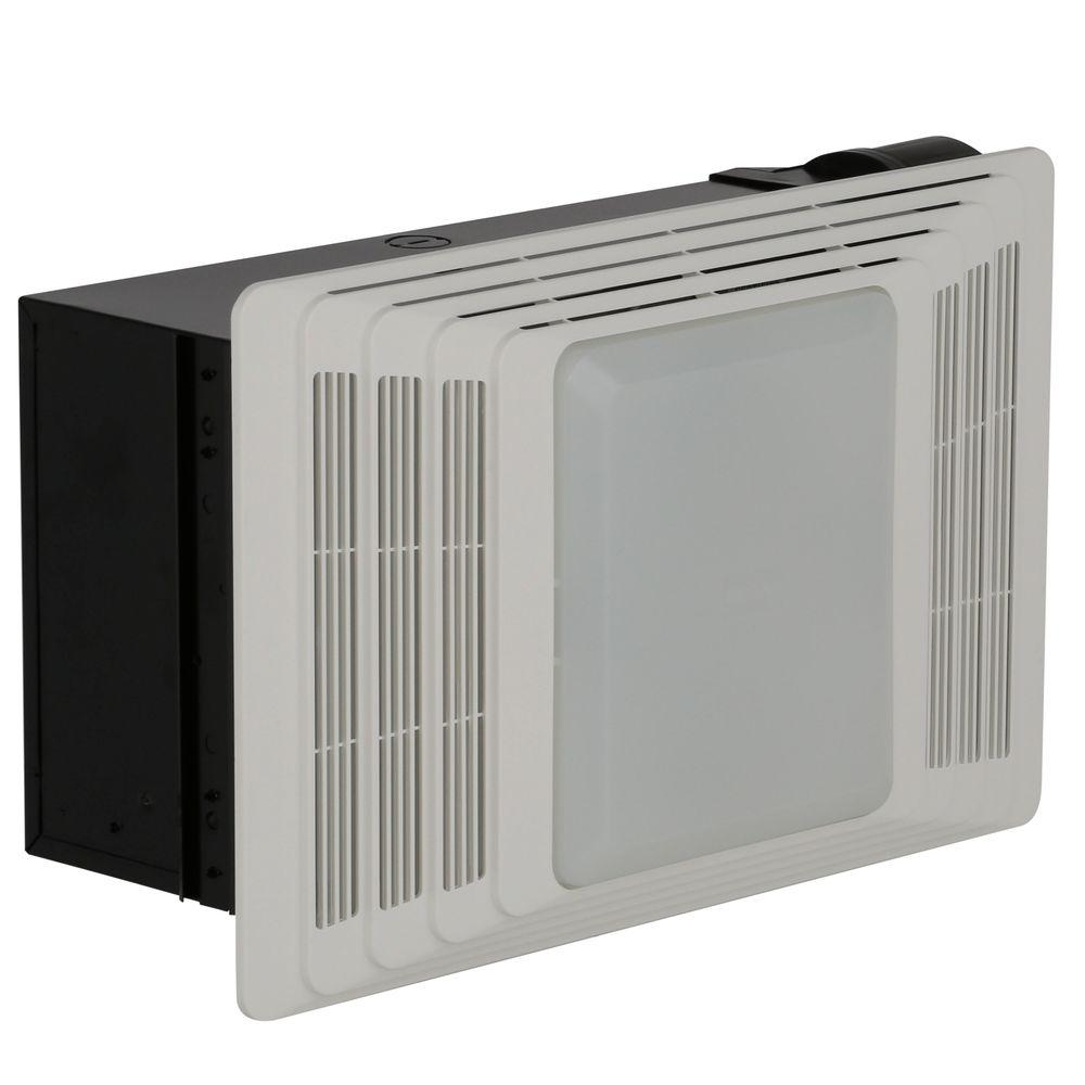 Broan 50 Cfm Ceiling Bathroom Exhaust Fan With Light And Heater