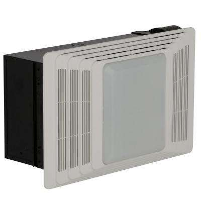 50 CFM Ceiling Bathroom Exhaust Fan with Light and Heater