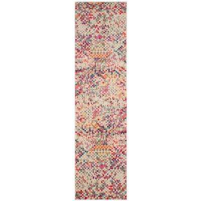 Monaco Gray/Multi 2 ft. 2 in. x 10 ft. Runner