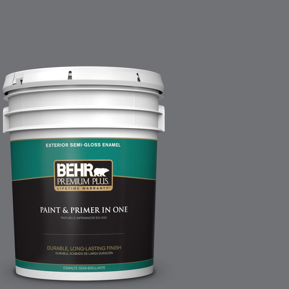 5 gal. #PPU18-03 Antique Tin Semi-Gloss Enamel Exterior Paint