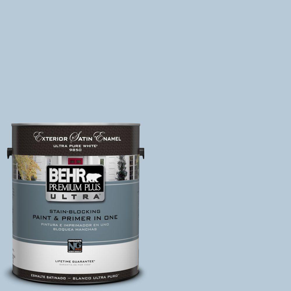 BEHR Premium Plus Ultra 1-Gal. #UL230-13 Denim Light Satin Enamel Exterior Paint