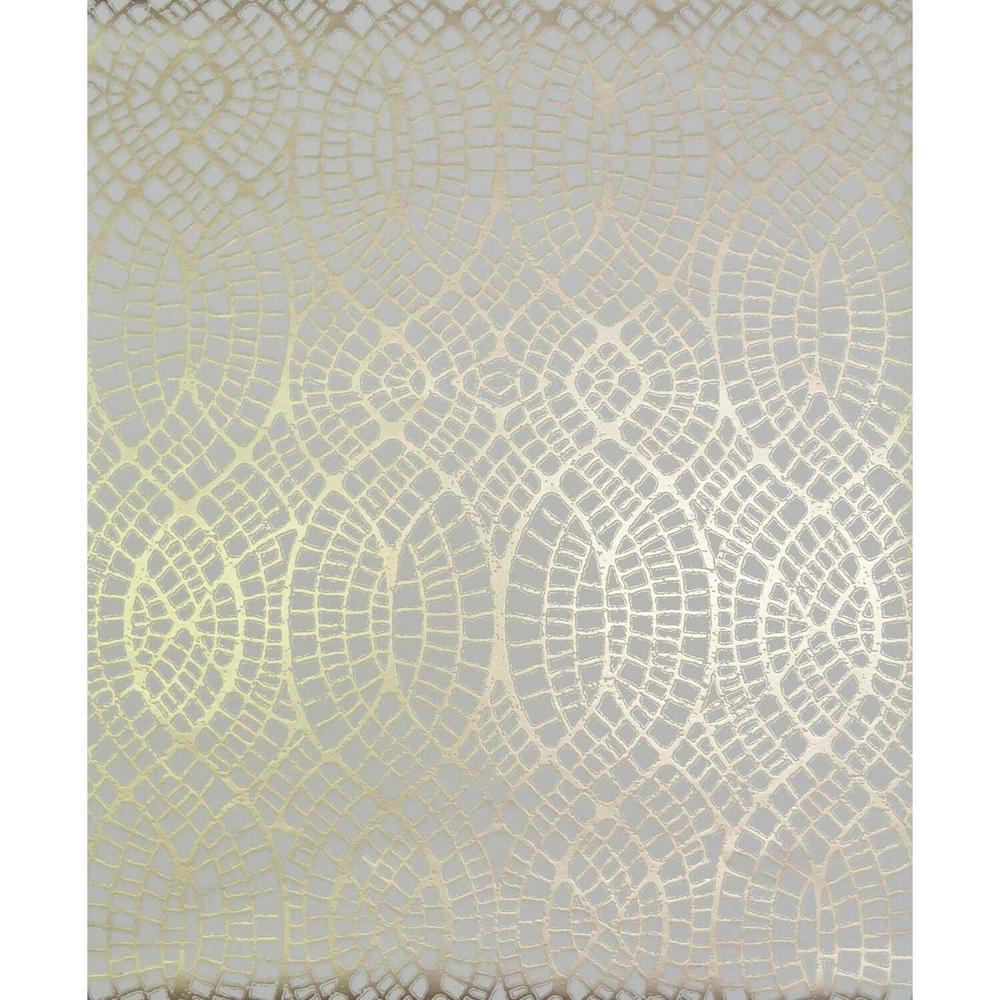 56.9 sq. ft. Almond/Gold Tortoise Wallpaper