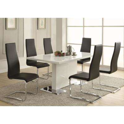 Everyday Dining Black And Chrome Side Chair