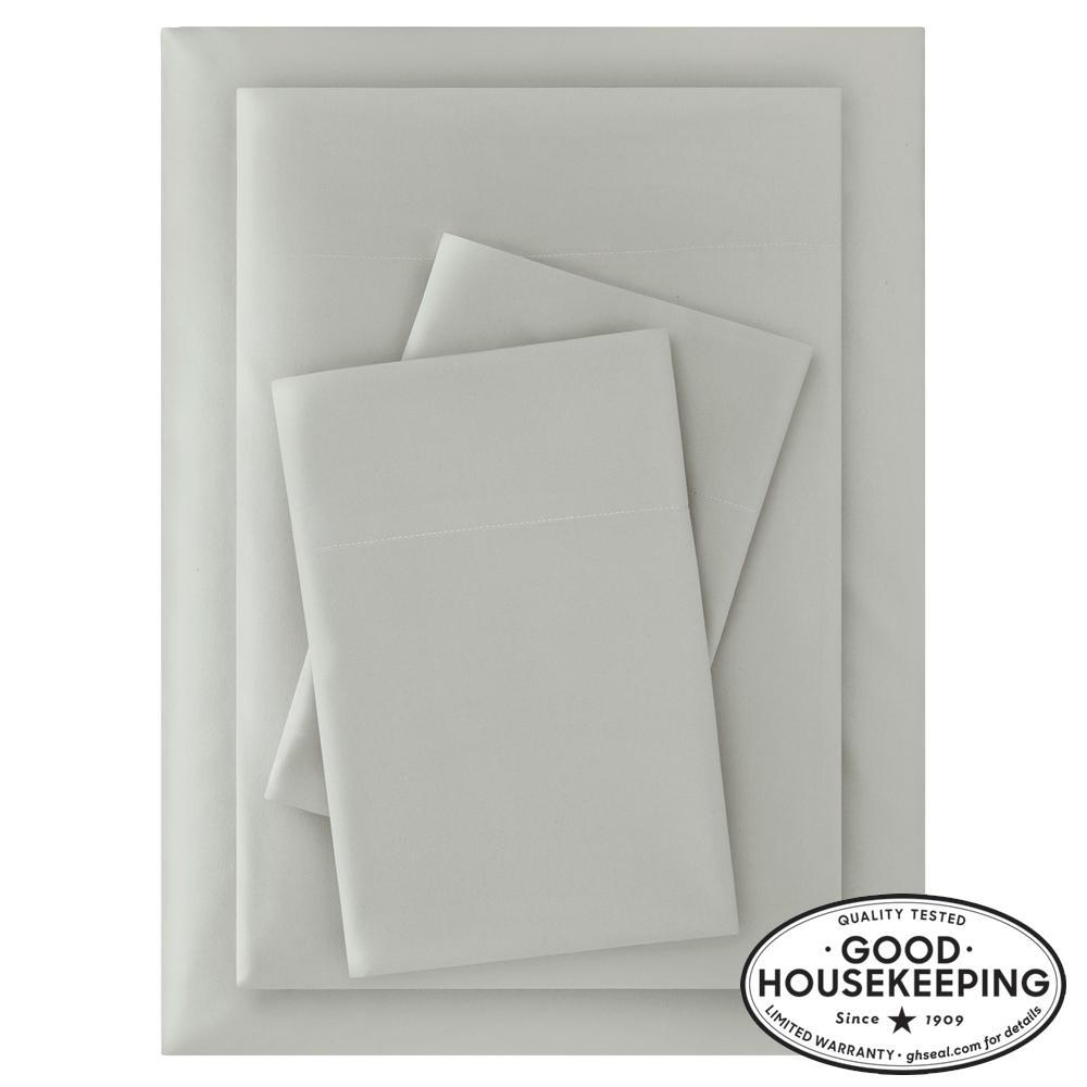 Brushed Soft Microfiber 4-Piece Queen Sheet Set in Moss