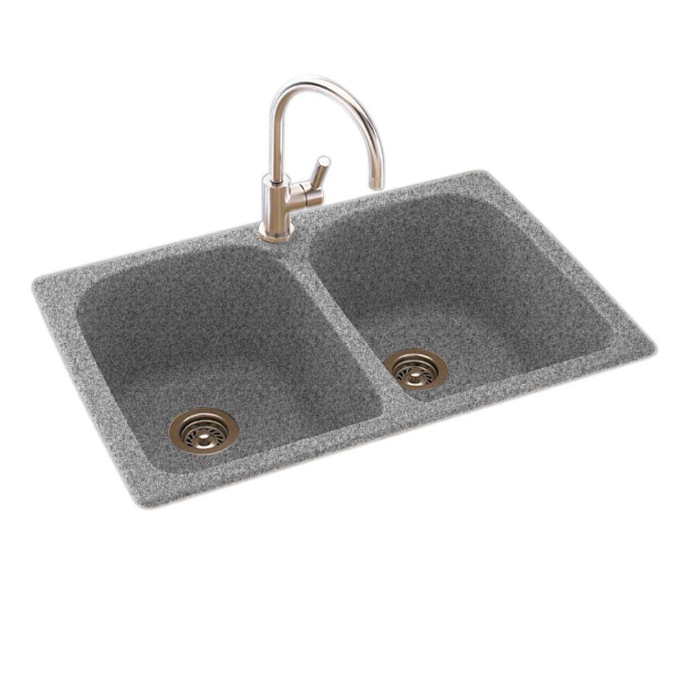 Swan Granite Double Bowl Kitchen Sink