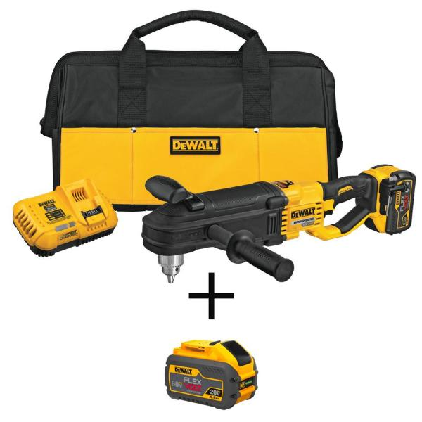 FLEXVOLT 60-Volt MAX Lithium-Ion Brushless Cordless 1/2 in. Stud and Joist Drill Kit with FLEXVOLT 9.0Ah Battery
