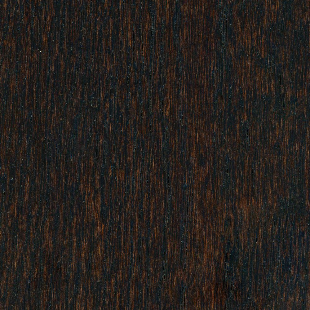 Home Legend Wire Brushed Oak Coffee 3/8 in. Thick x 5 in. Wide x Varying Length Click Lock Hardwood Flooring (19.686 sq. ft. / case)