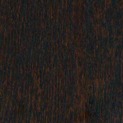 Wire Brushed Oak Coffee 3/8 in. Thick x 5 in. Wide x Varying Length Click Lock Hardwood Flooring (19.686 sq. ft. / case)