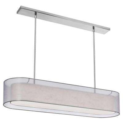 Melbany 4-Light 12 in. Satin Chrome Chandelier