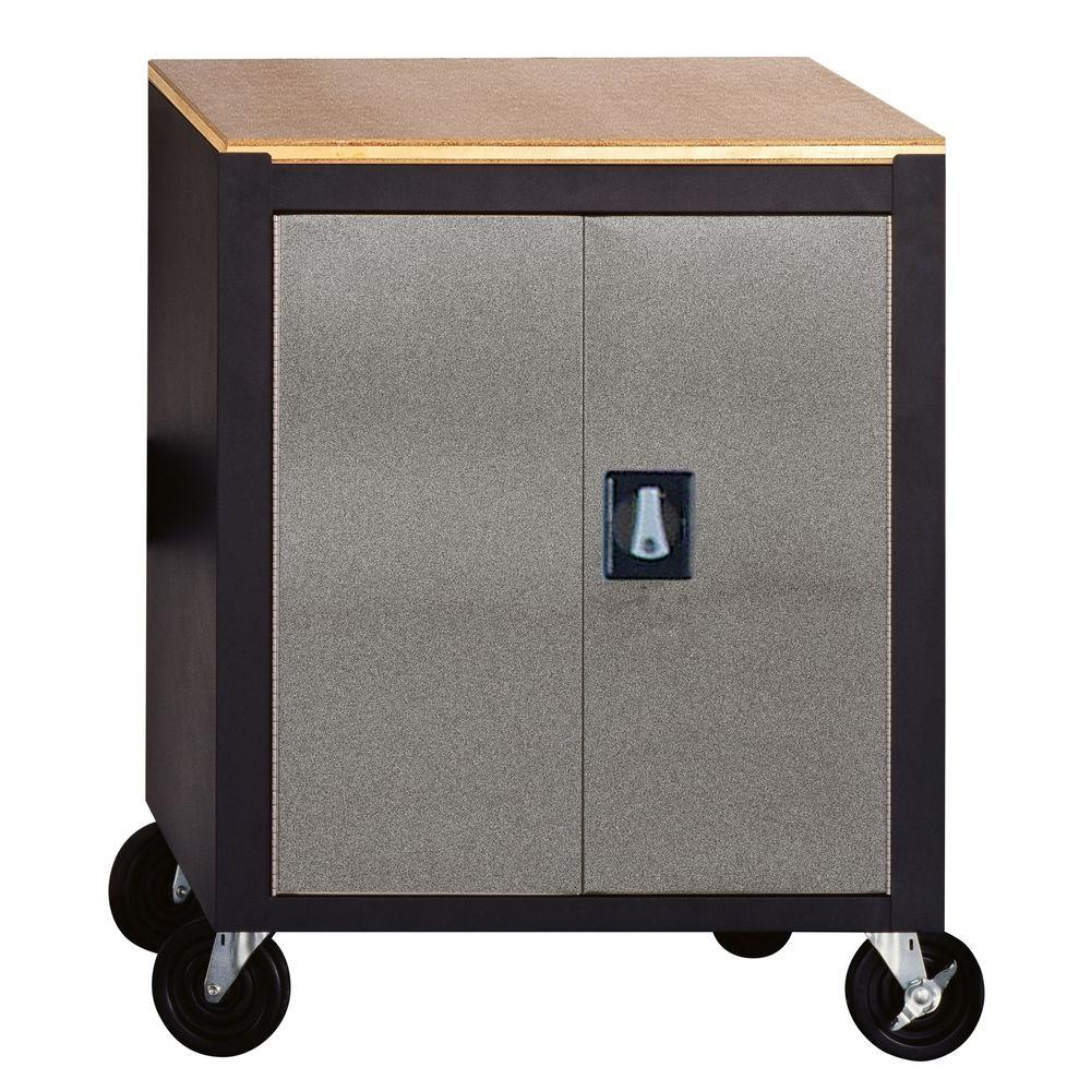 Edsal Silvervein 34 in. H x 26.5 in. W x 24 in. D  sc 1 st  The Home Depot : movable storage cabinets - Cheerinfomania.Com