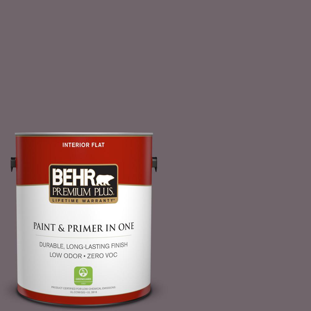 BEHR Premium Plus 1-gal. #N570-5 Curtain Call Flat Interior Paint