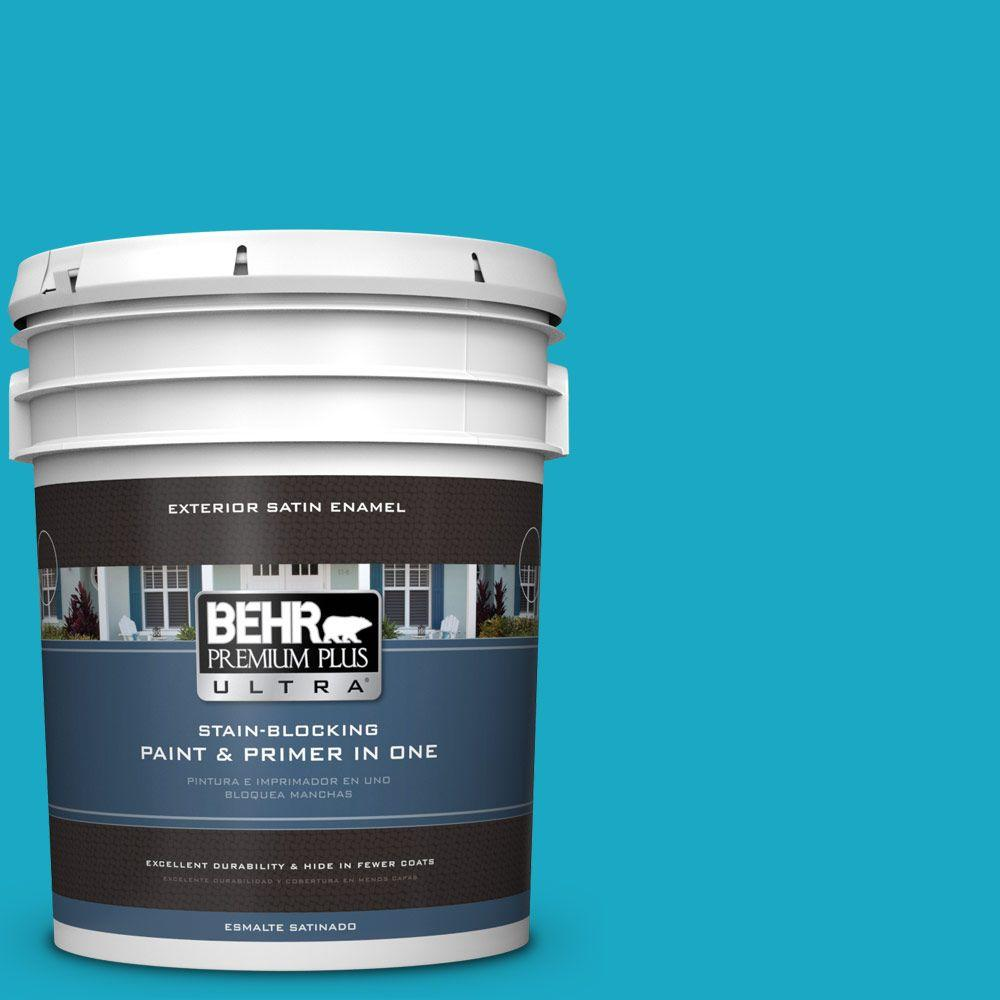 BEHR Premium Plus Ultra 5-gal. #P480-5 High Dive Satin Enamel Exterior Paint