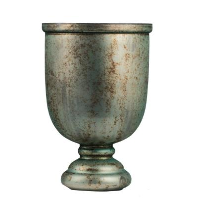 11 in. Weathered Emerald Green Glass Vase