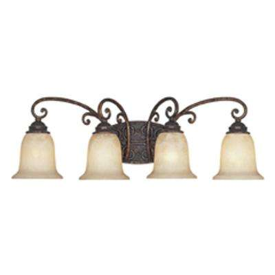 Amherst 4-Light Burnt Umber Wall Light