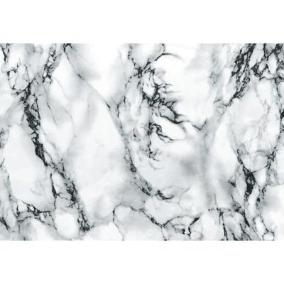 Marble White 26 in. x 78 in. Home Decor Self Adhesive Film