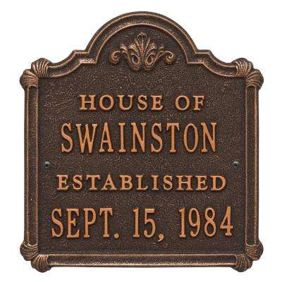 Chatham Anniversary Wedding Personalized Plaque, Oil-Rubbed Bronze