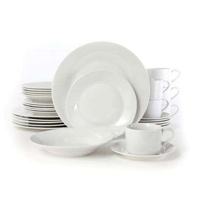 Rosendal 30-Piece White Porcelain Dinnerware Set