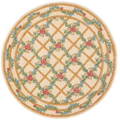 Chelsea Ivory 8 ft. x 8 ft. Round Area Rug