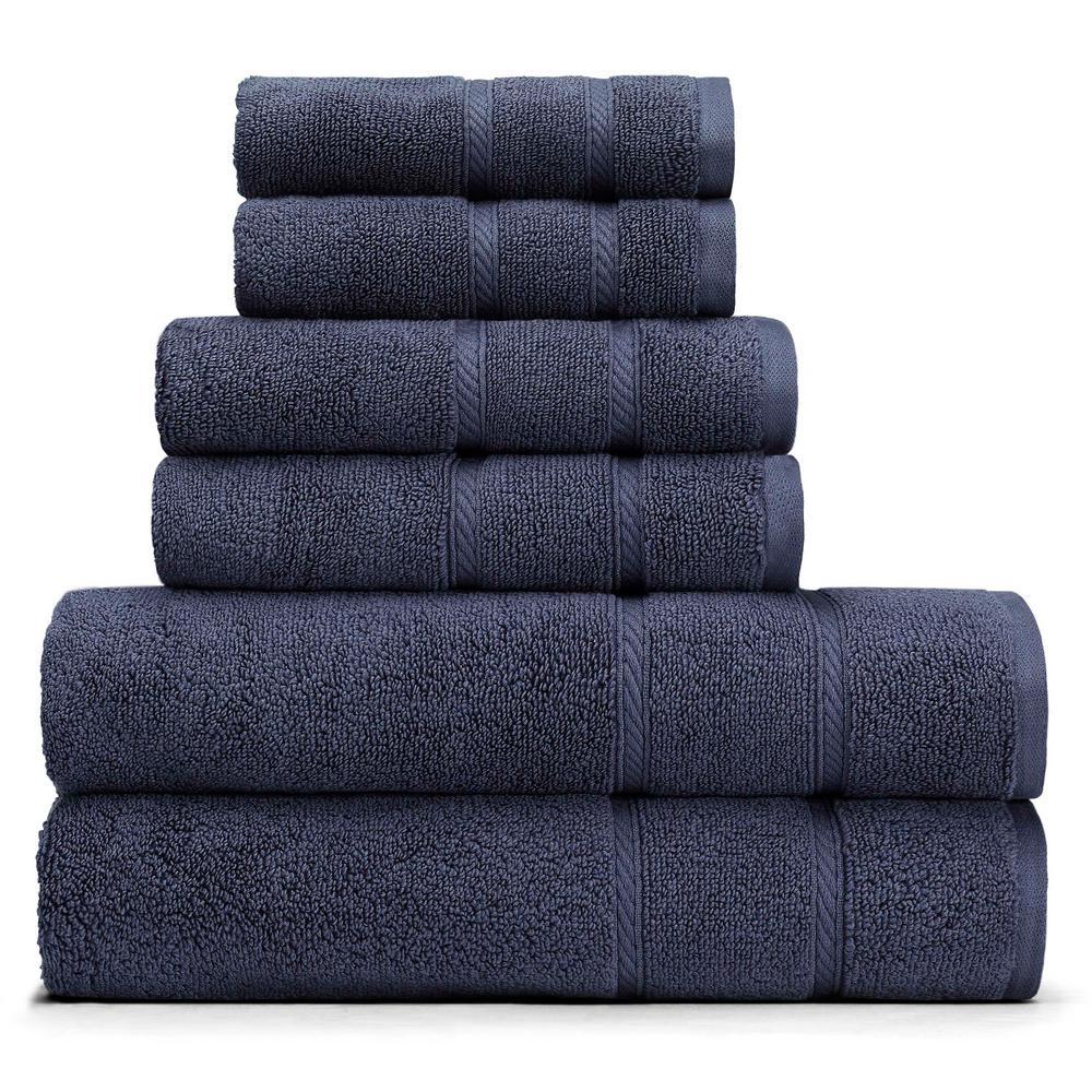 Belle Haven 6-Piece Towel Set in Navy