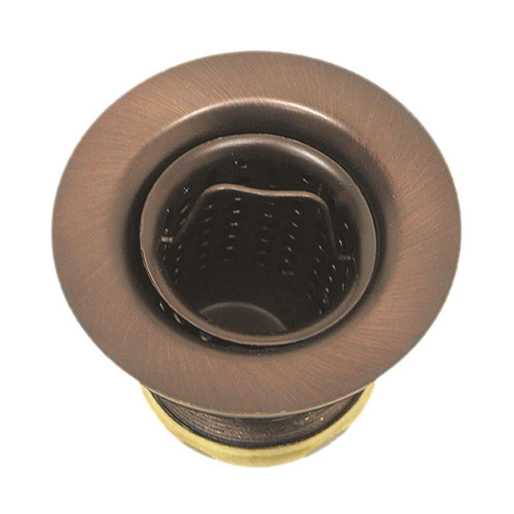 2 in. Basket Sink Strainer in Antique Copper