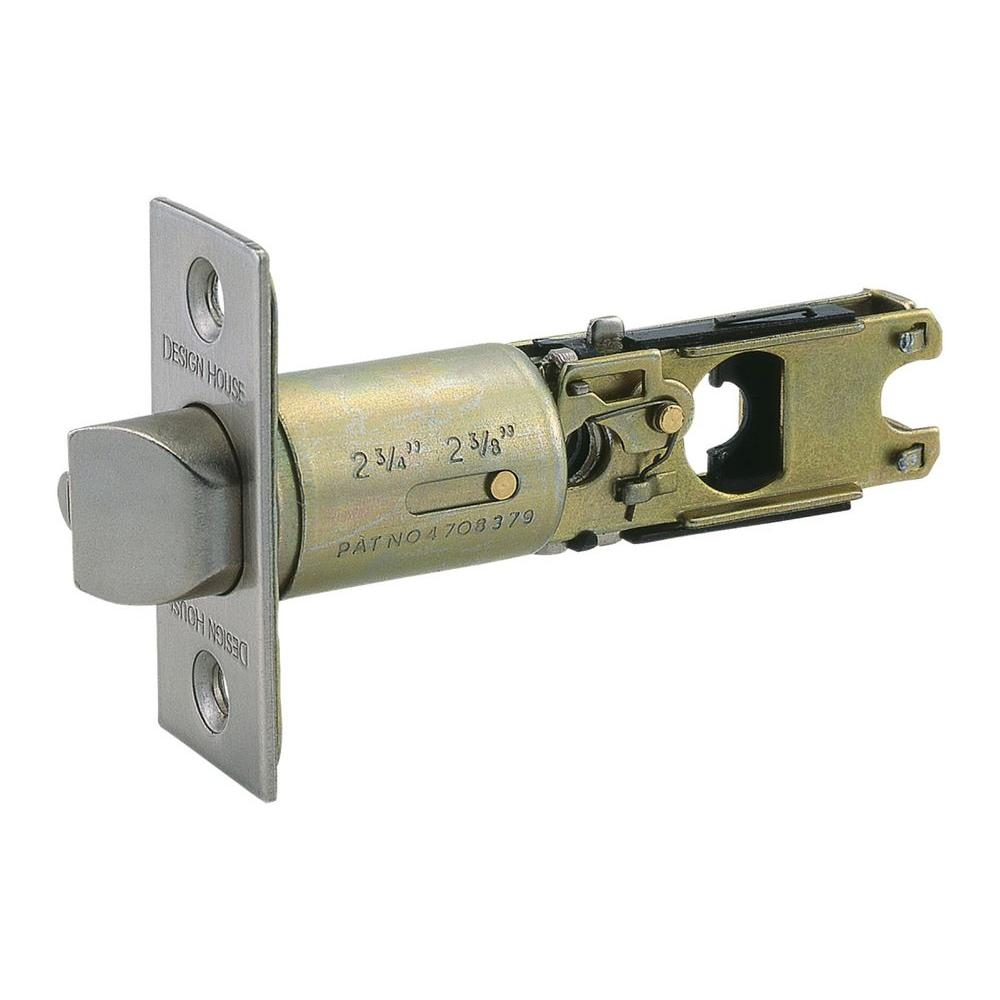 Design House Satin Nickel 2-Way Replacement Entry Latch-DISCONTINUED