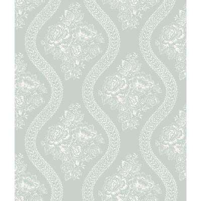 56 sq. ft. Magnolia Home Coverlet Floral Removable Wallpaper