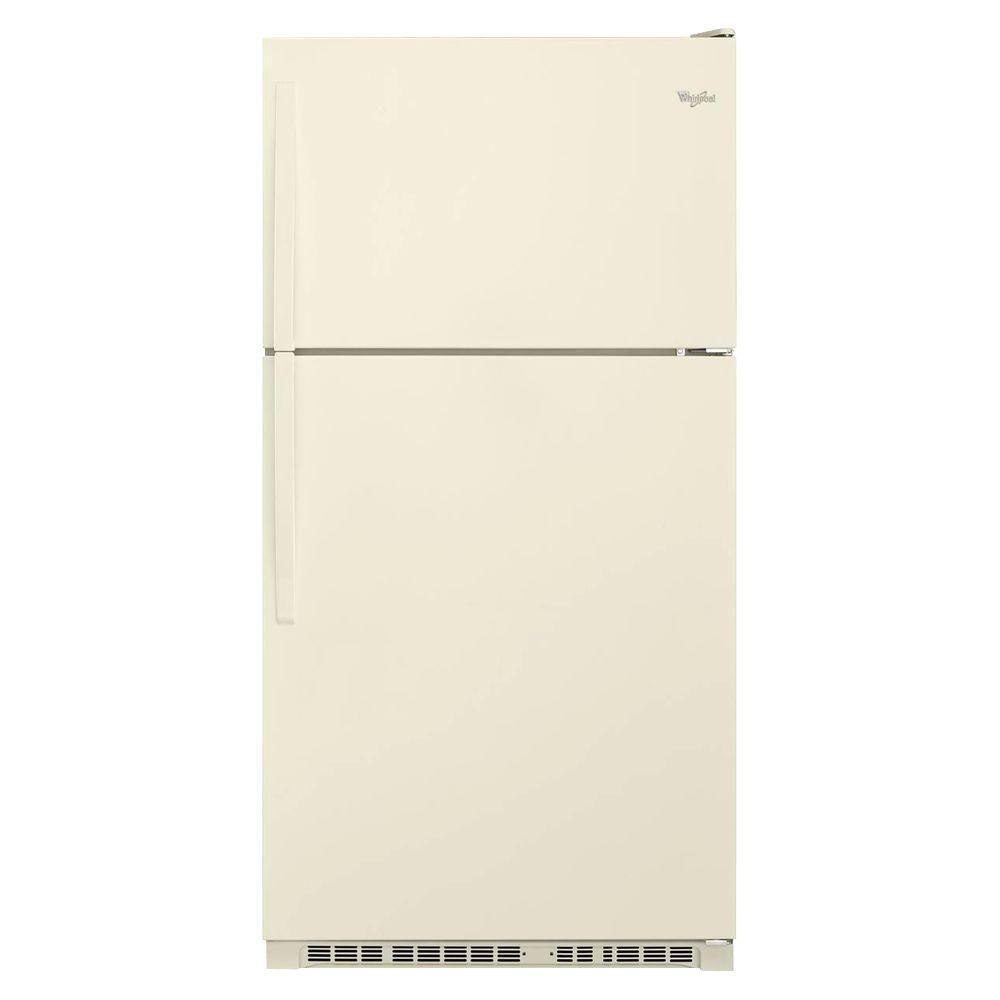 Whirlpool 20.5 cu. ft. Top Freezer Refrigerator in Biscuit