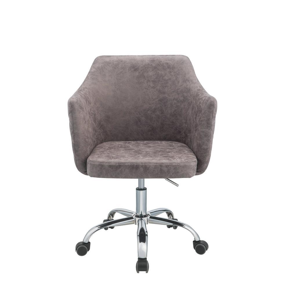 Acme Furniture Cosgair Dark Frey Antique Pu Office Chair