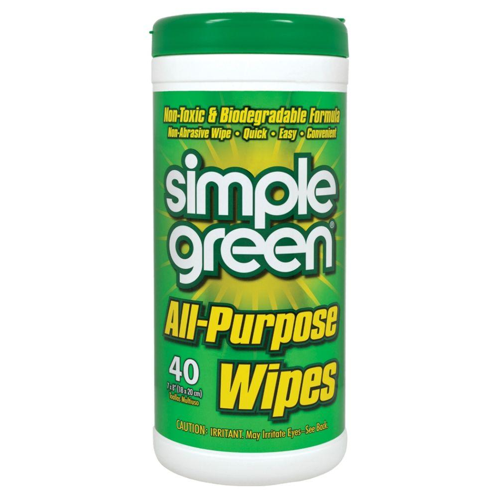 Simple Green All-Purpose Wipes (40-Count) (Case of 12), W...